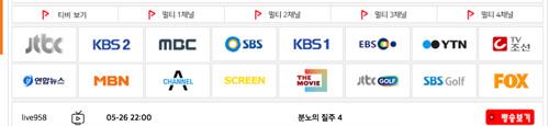 MBC・KBS・SBS・JTBC視聴