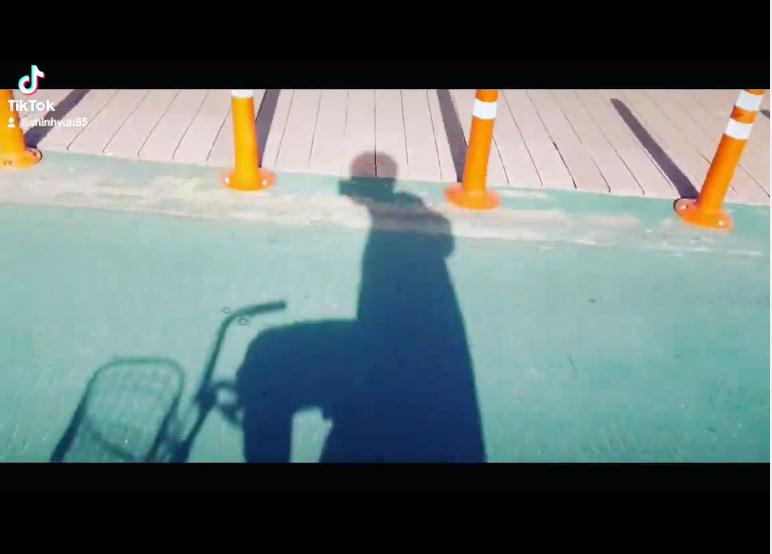 ユノ!?漢江サイクリング